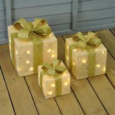 christmas present light boxes light up christmas boxes ebay
