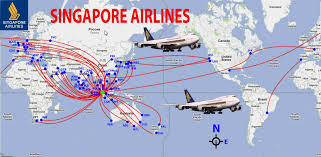 Air France Route Map by Singapore Airlines Route Map World International Europe