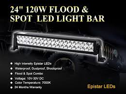 Richsolar 120w 24 Inch Led Light Bar Work Lights Flood Spot Combo