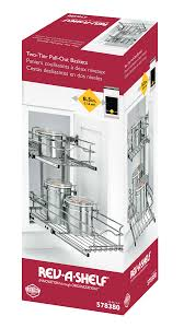 double pull out basket 59 9c 2 5 578380 rev a shelf two tier pull out baskets add organization to your kitchen cabinets while bringing those hard to reach items to your fingertips