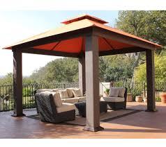 Greenhouse Gazebo Stc Seville Deluxe Vented Gazebo With Uv Sunbrella Canopy U2014 Qvc Com