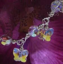 swarovski silver crystal bracelet images 925 sterling silver swarovski crystal charm bracelet butterfly jpg