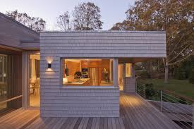 roof overhang for a contemporary exterior with a landscape and