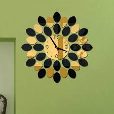 direct selling home decor new arrival 2017 direct selling mirror sun acrylic wall clocks 3d