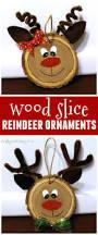 wood slice reindeer ornaments more reindeer ornaments ideas