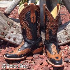 corral black saltillo golden overlay square toe boots cowboy