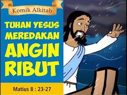 film kartun rohani anak tuhan yesus meredakan angin ribut film animasi slide alkitab gereja