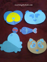 heart shaped arts and crafts animals for february learning by kids