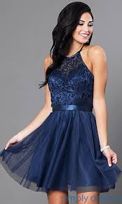 halter dress halter homecoming dress with embroidered bodice