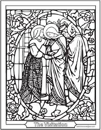 40 rosary coloring pages mysteries rosary catechism