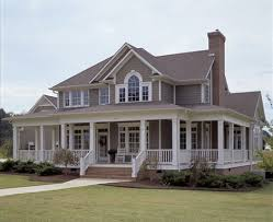 southern country homes house plans with porches porch big front porches and wraps