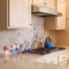Unique Backsplash For Kitchen by Unique Kitchen Backsplash By Mercury Mosaics With Bubbles And