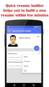 Edit My Resume Online by Quick Resume Builder Android Apps On Google Play