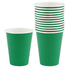 party cups bulk green paper party cups 9 oz 12 ct packs at dollartree