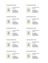 business card templates for microsoft word free printable