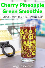 dairy free u0026 delicious cherry pineapple green smoothie