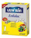 นมผงสำหรับเด็กแรกเกิดถึง 1 ปี; Enfalac TFC * 200gm x10 กล่อง 650 บาท