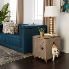 ecoflex jumbo litter loo hidden kitty litter box end table weathered hidden kitty solid wood litter box and side table free