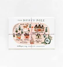 North Pole Map Rifle Paper Co U2013 North Pole Map Christmas Postcards Set Papercut