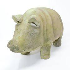 plastic resin pig standard statues lawn ornaments ebay