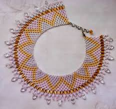 crystal necklace patterns images Free pattern for beaded necklace crystal leaves beads magic jpg
