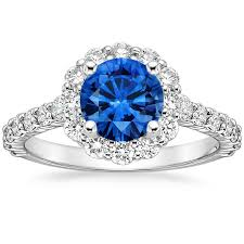 lotus flower engagement ring sapphire lotus flower diamond ring with side stones in platinum