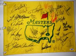Masters Flag Professional Golf Collectibles On Par With Other Sports