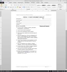 Office Inventory List Template by It Asset Assessment Checklist Template