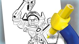 axl colouring page activities nexo knights lego com
