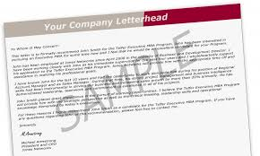 reference letter guidelines executive mba telfer of