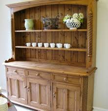 french country style pine hutch ebth
