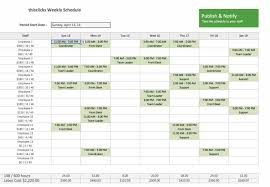 Employee Schedule Excel Template Employee Schedule Template Vnzgames