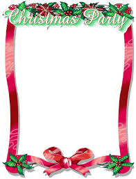 christmas party flyer clipart 19