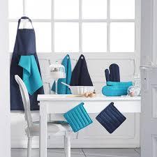 linge de cuisine torchon de cuisine bleu océan en coton les douces nuits de maé