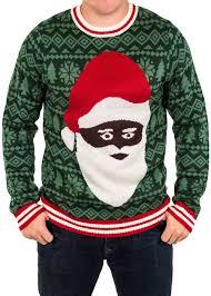 men u0027s black santa ugly christmas sweater festified
