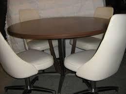 vintage chromcraft dining set dinette table swivel