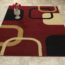Burgundy Area Rugs El5000 Elegant Contemporary Abstract Design Area Rug Burgundy