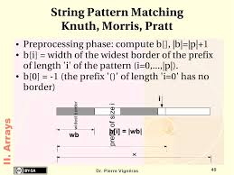 pattern matching algorithm in data structure using c data structures and algorithms