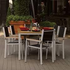 oxford garden travira teak patio dining set seats 4 hayneedle