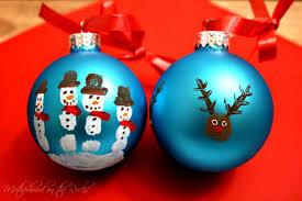 fingerprint snowmen ornaments