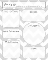 best 25 preschool lesson plan template ideas on pinterest
