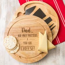 personalized cheese board set personalised birthday cheese board for men by dust and things