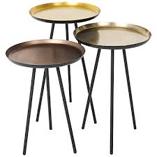 round metal side table gorgeous content by conran accents round side tables with metallic