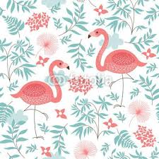 wallpaper with pink flamingos seamless pattern with a pink flamingo wall mural pixers we live