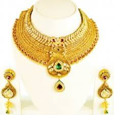 22k gold designer necklace and earrings set light to medium 22k