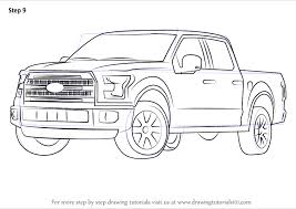 learn how to draw ford f 150 truck trucks step by step drawing