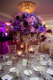 table centerpieces for weddings forsgate country club venue pics purple gold napkins and factors