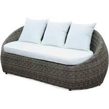 canapé de jardin design salon de jardin design arrondi ritardo en résine tressée arrondie 4