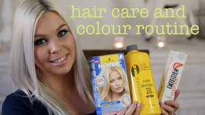 silver blonde color hair toner blonde hair care and colour routine crystal conte youtube