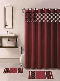 Burgundy Bathroom Rugs 15 Bath Rug Set Choose From Grey Teal Blue